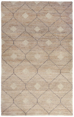 Kosas Home Reign Hand-Woven Wool Blend Area Rug, Natural, Beige And Gray, 2'x3'