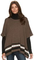 Croft & Barrow Women's Cozy Scoopneck Sweater Poncho