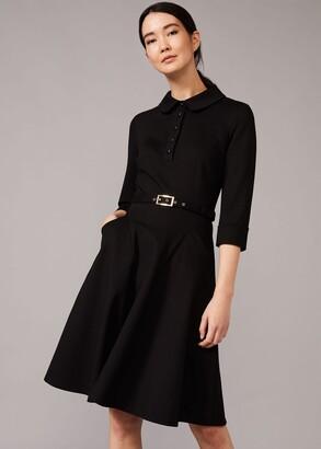 Phase Eight Enola Belted Ponte Shirt Dress