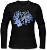 TSVUDDE Chicago hawks Pond Logo Women's Long Sleeves Shirts
