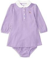 Ralph Lauren Infant Girls' Striped Mesh Dress & Bloomer Set - Sizes 3-24 Months