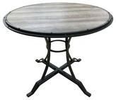 ACME Furniture Byton Counter Height Table Metal/Antique Oak and Black - Acme