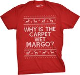Crazy Dog T-shirts Crazy Dog Tshirtsens Why Is The Carpet Wet Funnyargo Christas Ugly Sweater T shirt