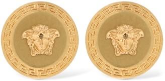 Versace Medusa Coin Stud Earrings