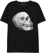 Alexander Mcqueen Black Skull-print Cotton T-shirt