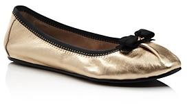 Salvatore Ferragamo Women's My Joy Metallic Leather Ballet Flats - 100% Exclusive