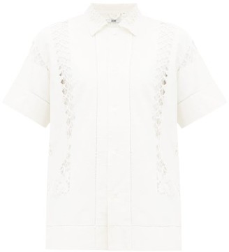Bode Embroidered Linen-canvas Shirt - White