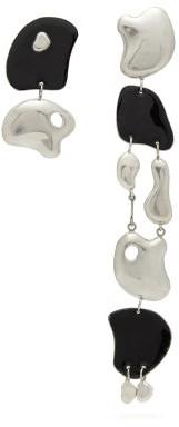 Misho - Mini Wave Breaker Mismatched Silver Earrings - Silver