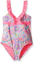 YMI Jeanswear Big Girls' Doll House One Piece Ruffled Swimsuit
