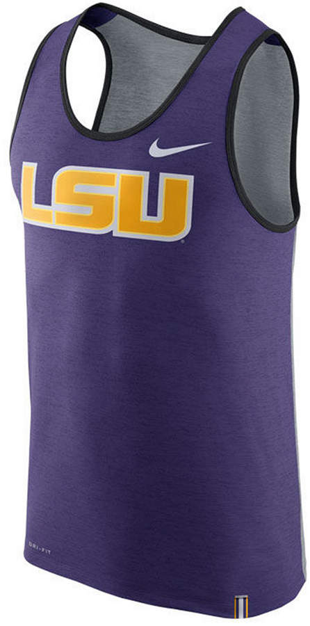 Nike Men's Lsu Tigers Dri-Fit Tank