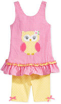 Nannette 2-Pc. Owl Tunic and Shorts Set, Baby Girls (0-24 months)