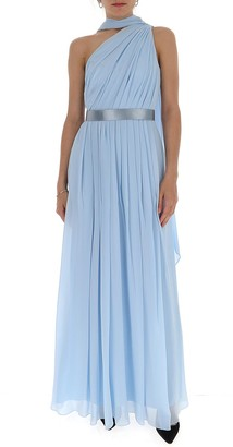 Max Mara One-Shoulder Draped Dress