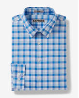 Express Fitted Check Dress Shirt