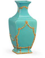 """Chelsea House 14"""" Bamboo-Style Vase - Turquoise"""