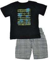 Quiksilver Little Boys Logo Top 2pc Short Set
