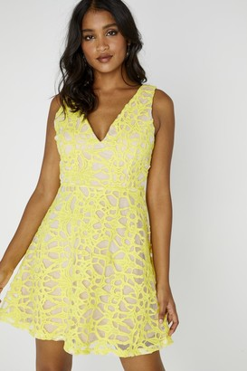 Kands London Sunshine Sleeveless Plunge Dress