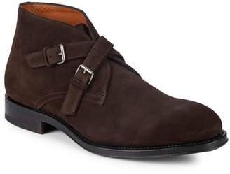 Aquatalia Vaughn Double Monk Strap Ankle Boots
