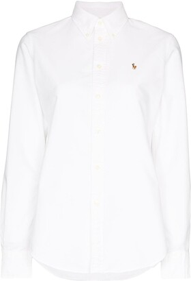 Polo Ralph Lauren logo-embroidered Oxford shirt
