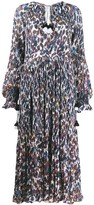 Derek Lam 10 Crosby Nemea Pleated Speckled Floral Maxi dress