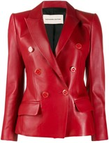 Alexandre Vauthier double breasted leather blazer