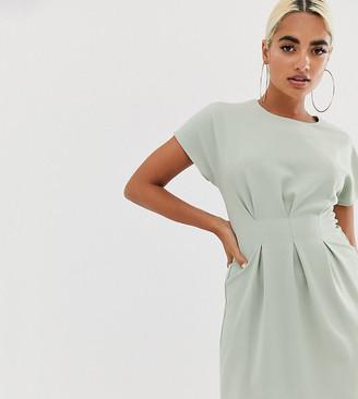 Asos DESIGN Petite nipped in waist mini dress