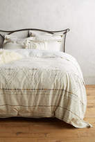 Anthropologie Embroidered Pointilliste Duvet