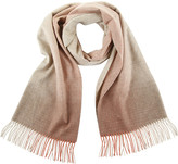 Johnstons of Elgin Cashmere Scarf with Ombre Border - Rust