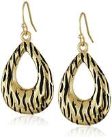 Kensie Textured Open Teardrop Earrings