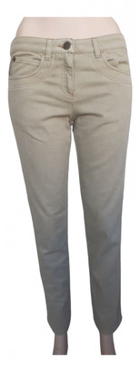 Alexander McQueen Khaki Cotton Jeans