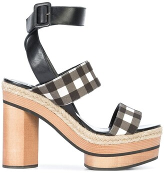 Pierre Hardy check open-toe sandals