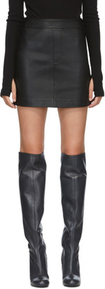 Helmut Lang Black Leather Miniskirt