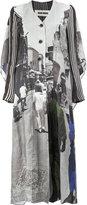 Uma Wang - street scene print coat - women - Cupro/Viscose - M