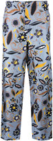 Fendi floral print trousers - men - Silk - 48