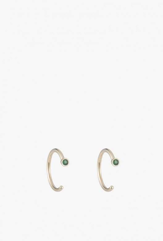 Ariel Gordon Dual Birthstone Dust Hoop Earrings