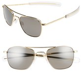 Randolph Engineering Men's 52Mm Polarized Aviator Sunglasses - 23 K Gold