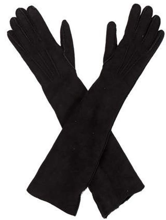 ac289dbb710 Long Suede Gloves Black Long Suede Gloves