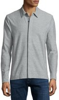James Perse Heathered Stretch-Jersey Shirt, Gray
