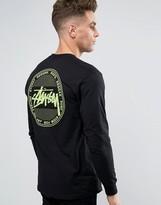 Stussy Long Sleeve T-shirt With Vintage Dot Back Print