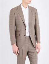 Camoshita Regular-fit wool and silk-blend jacket
