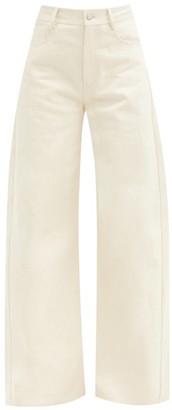 Vika 2.0 - High-rise Wide-leg Jeans - Cream