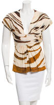 Roberto Cavalli Sleeveless Printed Top