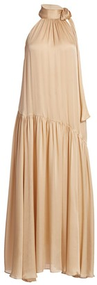 Zimmermann Super 8 Swing Silk Tieneck Maxi Dress