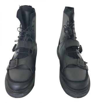 Yohji Yamamoto Black Leather Boots
