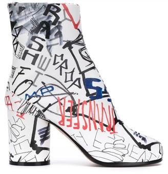 Maison Margiela graphic print Tabi ankle boot