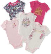 Juicy Couture Fuchsia 'Juicy Couture' Five-Piece Bodysuit Set - Infant