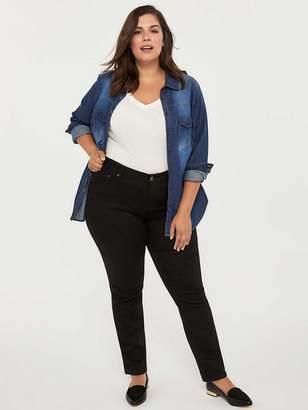 Petite Slightly Curvy Fit Straight Leg Black Jean - d/C JEANS