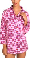 Malabar Bay Pink Geometric Organic Cotton Hopi Sleep Shirt