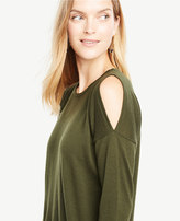Ann Taylor Extrafine Merino Wool Cold Shoulder Sweater