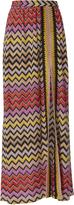Missoni Mare Zig Zag High Slit Maxi Skirt