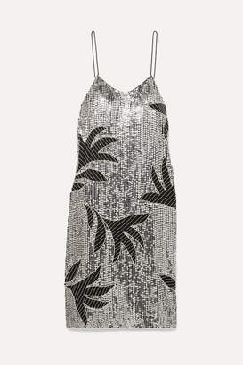 Dodo Bar Or Harriet Embellished Sequined Tulle Dress - Silver